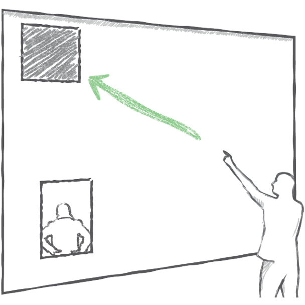 Accuracy of Deictic Gestures to Support Telepresence on Wall-sized Displays