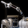Robotic arm holding an endoscope